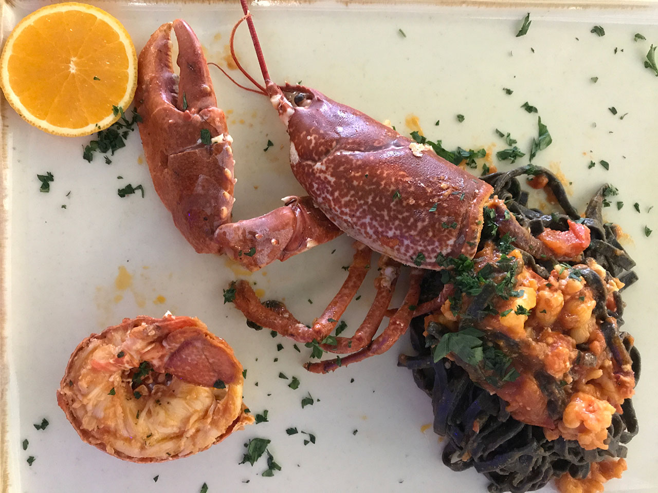 Lobster-black-ink-linguine